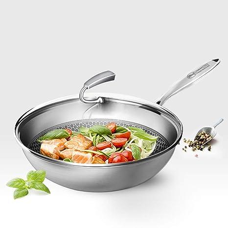 304 Acero inoxidable en sartén Utensilios de cocina de cerámica ...