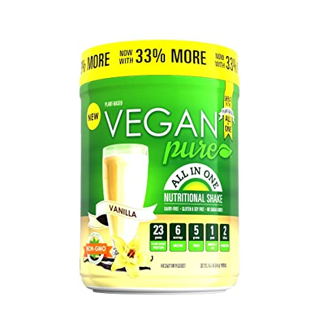 Amazon.com: Vegan Pure All In One Vanilla - 19.4oz - Delicious Plant Based Nutritional Shake mix: Health & Personal Care