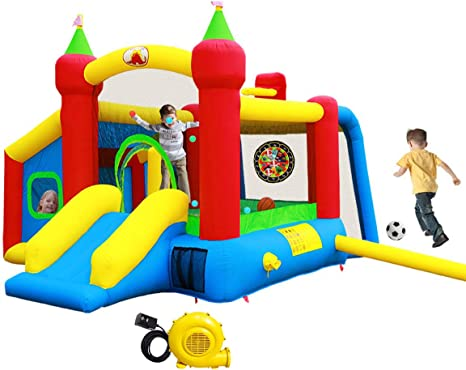 Amazon.com: WELLFUNTIME - Castillo hinchable para saltar con ...