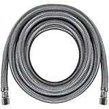 Certified Appliance Accessories Braided Stainless Steel Ice Maker Connector, 15ft
