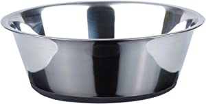 PEGGY11 No Spill Non-Skid Stainless Steel Deep Dog Bowls