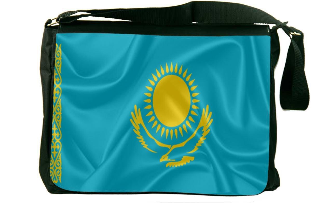 Rikki Knight Kazakhstan Flag Messenger Bag School Bag