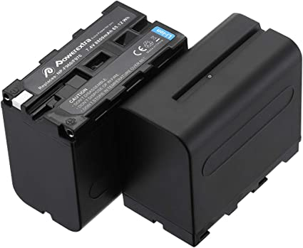 DuraPro 7200mAh 1Pc NP-F970 NP-F960 Battery with LED indicator for NP-F970,NP-F550,NP-F750,NP-F330,NP-F770,NP-F960 P-F570 KYTD Camera Batteries NP-F530
