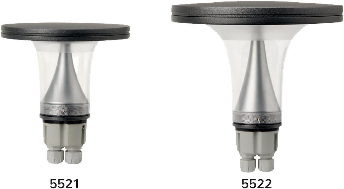 5521GM - 150 /Ø Corpo Lampada Led Alluminio per illuminazione di vialetti nei giardini 3000K Luce Fredda 230V IP65 A++ CANTHARELLUS /Ø 150-200 mm
