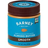 BARNEY Almond Butter, Smooth, Paleo Friendly, KETO, Non-GMO, Skin-Free, 10 Ounce