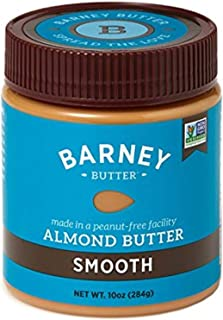 product image for BARNEY Almond Butter, Smooth, Paleo Friendly, KETO, Non-GMO, Skin-Free, 10 Ounce