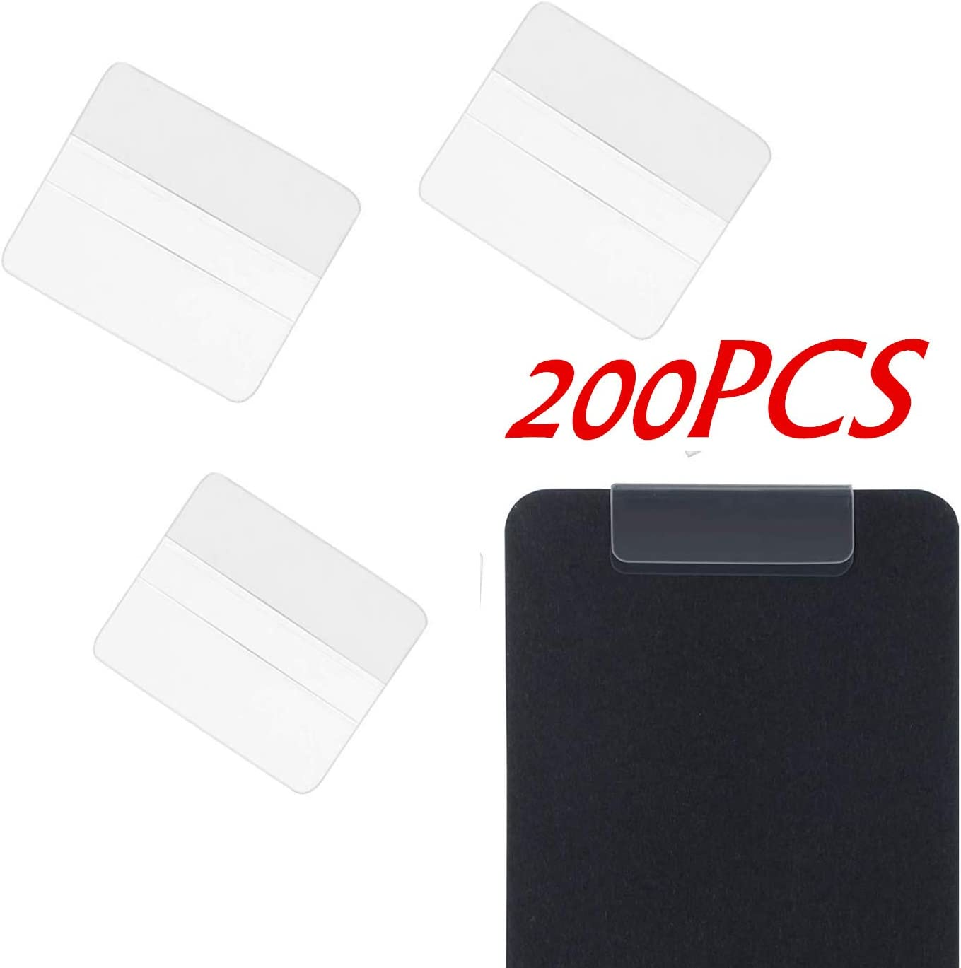 1 x 1 inch 150 Pieces Earring Card Adapter Self-Adhesive Lip Adapter Plastic Lip Hanger for Earring Necklace Card Display