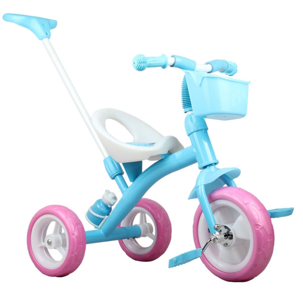 QXMEI Children's Tricycle Cart 1-2-3-5 Years Old Child Bike Baby Girl Cute Stroller,Pink1 by QXMEI