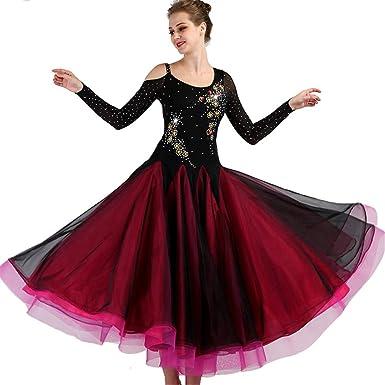 6e7e62e10 SIQIAN Adult/Child Embroidered International Standard Ballroom Dance Dress  Party Dance Evening Modern Dress (