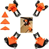 Angle Clamps for Wood, EDIONS 12PCS Angle Clamps 60/90/120 Degree Clamp Adjustable Angle Fixing Clips Picture Frame…