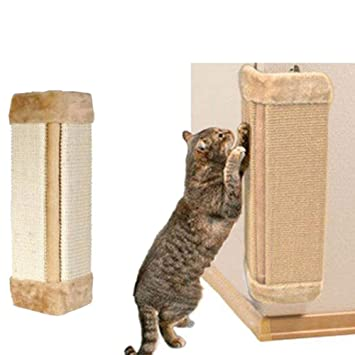 Poste rascador para gatos, de sisal resistente al desgaste, para colgar en la pared, para gatos, gatitos, etc. Tamaño libre caqui: Amazon.es: Hogar