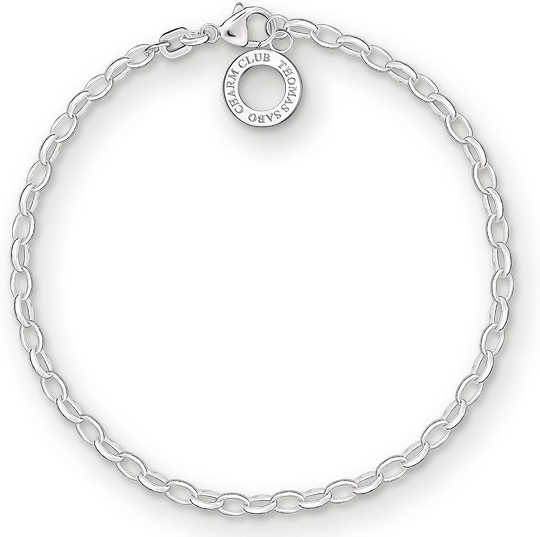 Thomas Sabo - Pulsera de Mujer Karma Beads, Plata de Ley 925, Plateado