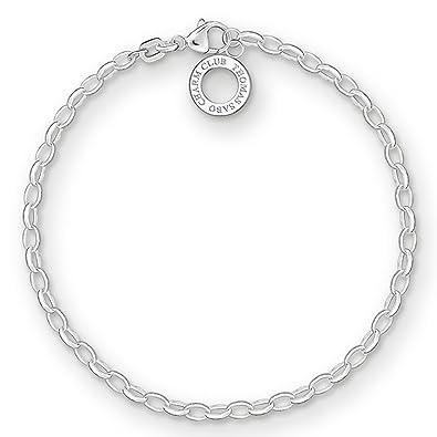 6ad288fb2 Thomas Sabo Charm Club 925 Sterling Silver Women's Charm Bracelet, 17 cm  X0163-001
