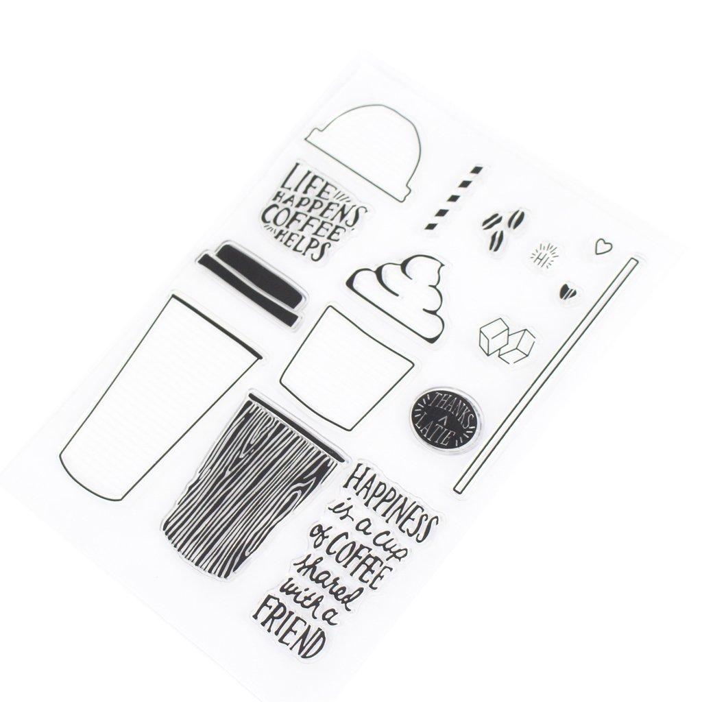 Cuigu Silicona Sellos Craft Transparente Printing gaufrage álbum DIY Artesanía Scrapbooking decoración Stamper Copa para, Tarjeta, Tarjeta de invitación