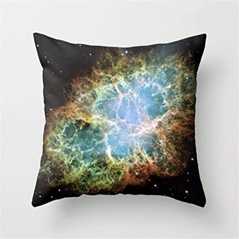 LULABE Crab Nebula Throw Pillow Cushion Cover for Couch Sofa ...