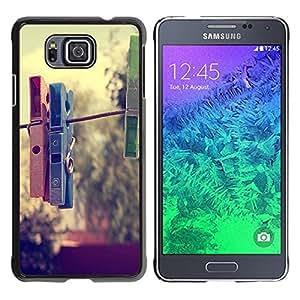 Be Good Phone Accessory // Dura Cáscara cubierta Protectora Caso Carcasa Funda de Protección para Samsung GALAXY ALPHA G850 // Clothespin Hipster