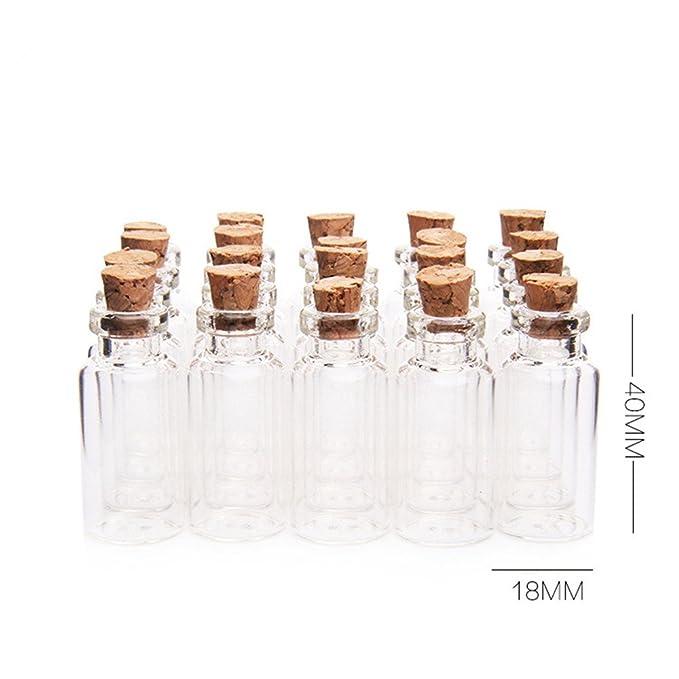danmu pequeño, arte 50pcs 5 ml Mini botellas de vidrio ...