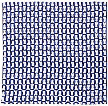 (ザ・スーツカンパニー) Daniel/チェーンプリント シルクネッカチーフ ホワイト×ブルー×ネイビー