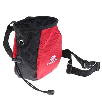 Gazechimp Bolsa de Magnesio Tiza para Escalada - Negro y rojo: Amazon.es: Deportes y aire libre