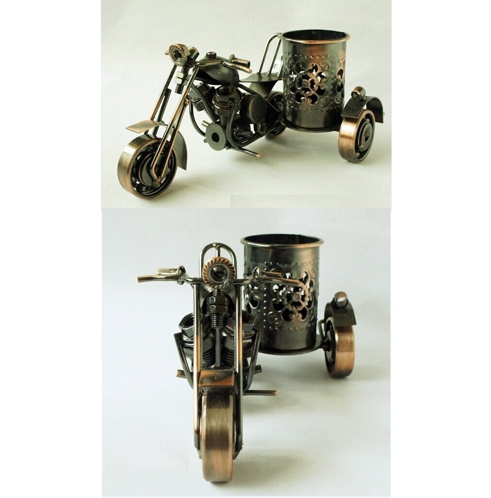 Handmade Crafts, Motorcycle Harley Davidson Handmade Collectible,Pen Holder Design, Size: M 06 Goldstones 02