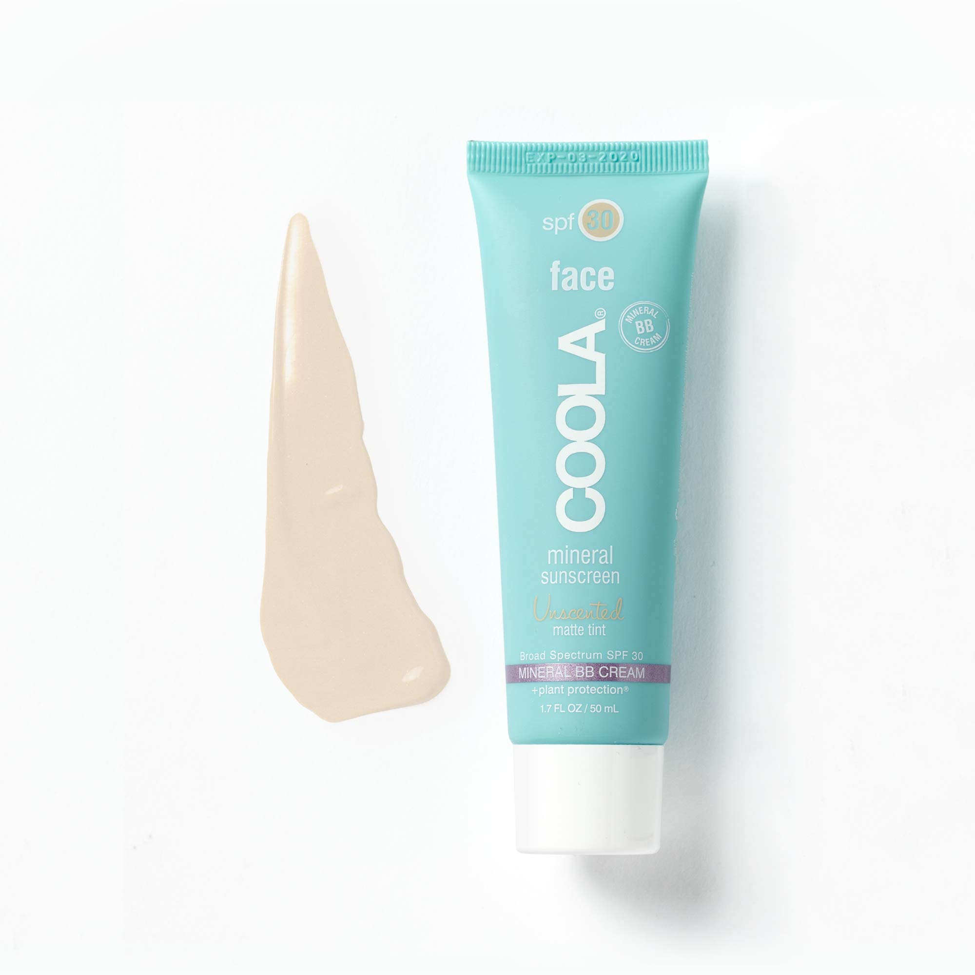 COOLA Mineral Suncare, Unscented Matte Tint Face Sunscreen, SPF 30, 1.7 fl. Ounce, Mineral BB Cream, Natural Beige Tint by Coola Suncare