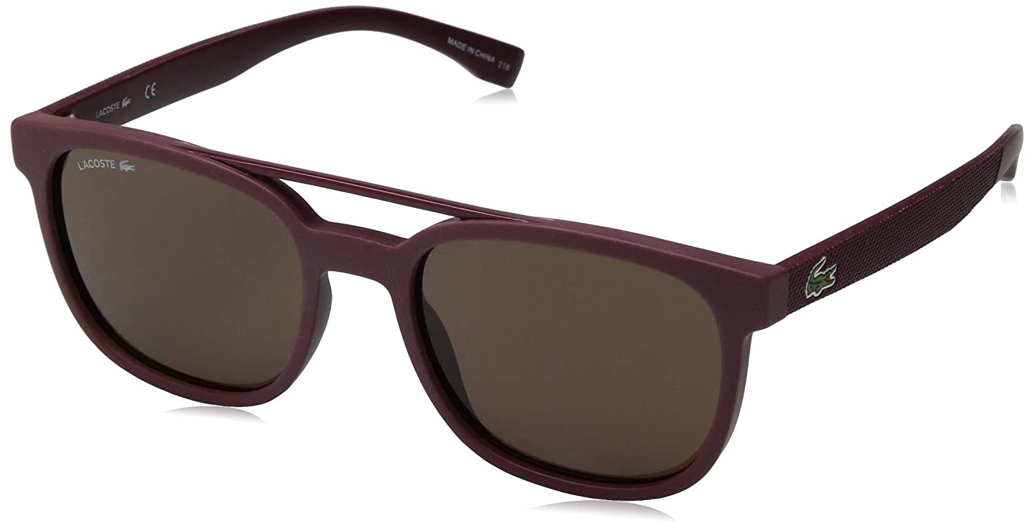 Lacoste Mens L883s Rectangular Sunglasses MATTE BURGUNDY 53.83 mm
