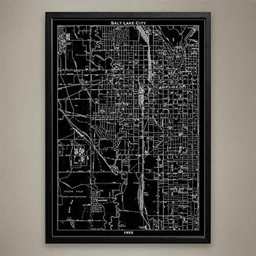 Amazon.com: Salt Lake City Map Print, Wall Art For Your