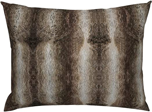 Roostery Pillow Sham, Chinchilla Chinchilla Animal Deer Hide Winter Print, 100 Cotton Sateen 26in x 26in Knife-Edge Sham