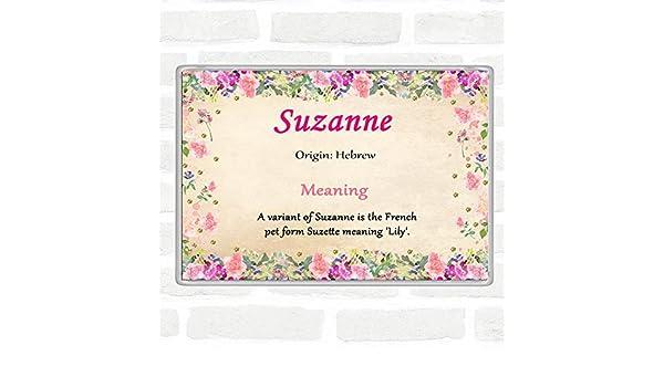 Imán para nevera Suzanne con nombre y significado Jumbo floral ...