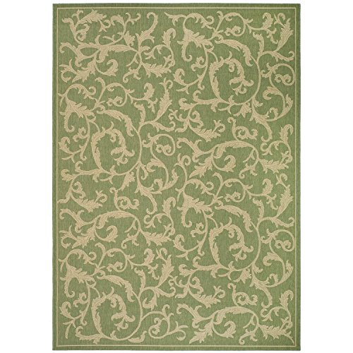 Safavieh Courtyard Collection CY2653-1E06 Olive and Natural Indoor/ Outdoor Area Rug (4' x 5'7