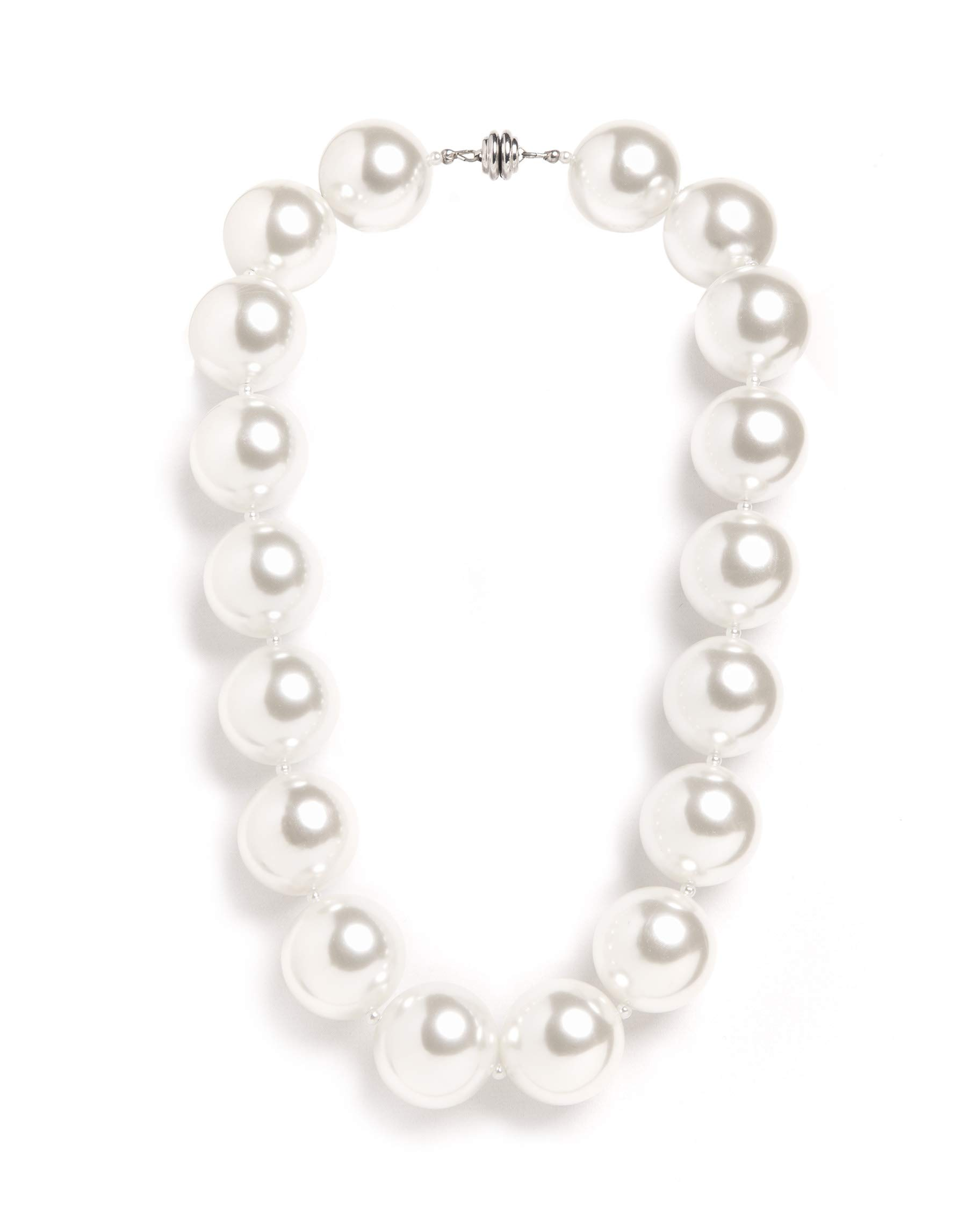 Hot Girls Pearls Ivory White 18'' Cooling Necklace | Stylish Way to Stay Cool While Looking Hot | Free Insulated Travel Pouch Included with Every Item by Hot Girls Pearls Costume Jewelry