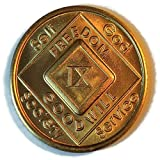 NA Coins - Narcotics Anonymous Medallions 1 thru 20 Year - Birthday Anniversary Recovery Gift. Also available: 18 Month and Eternity Tokens
