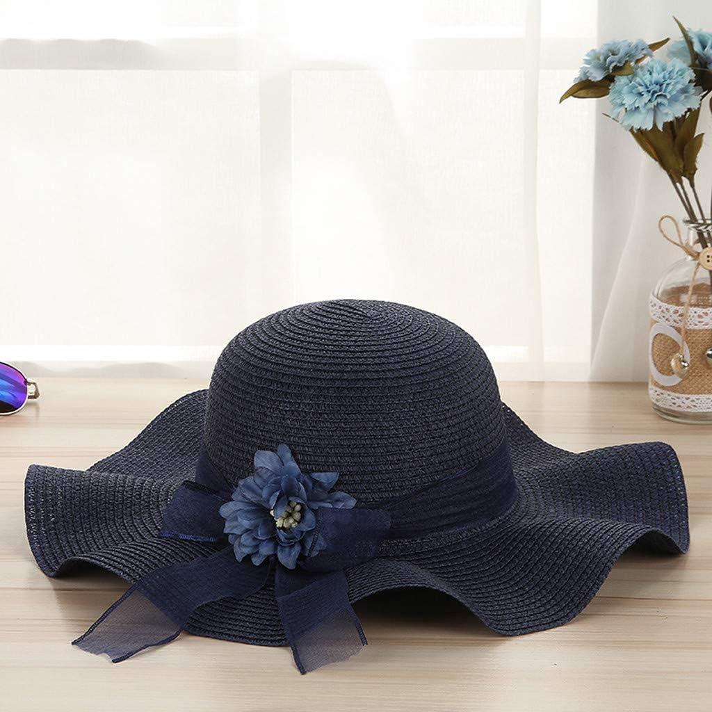 MERICAL Gorro Mujer Verano Sombrero De Paja con ProteccióN Solar ...