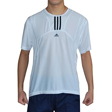 581e6497 ADIDAS Clima Mens Dri-Fit Running Tee T Shirt - White (Size: XXL):  Amazon.co.uk: Clothing