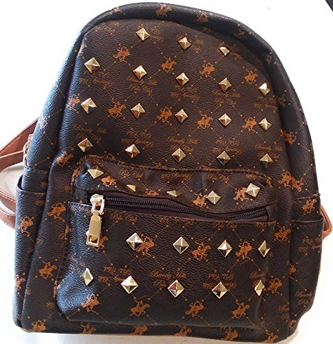 Logo Print Polo (BEVERLY HILLS POLO CLUB Logo Print Backpack Daypack Black)