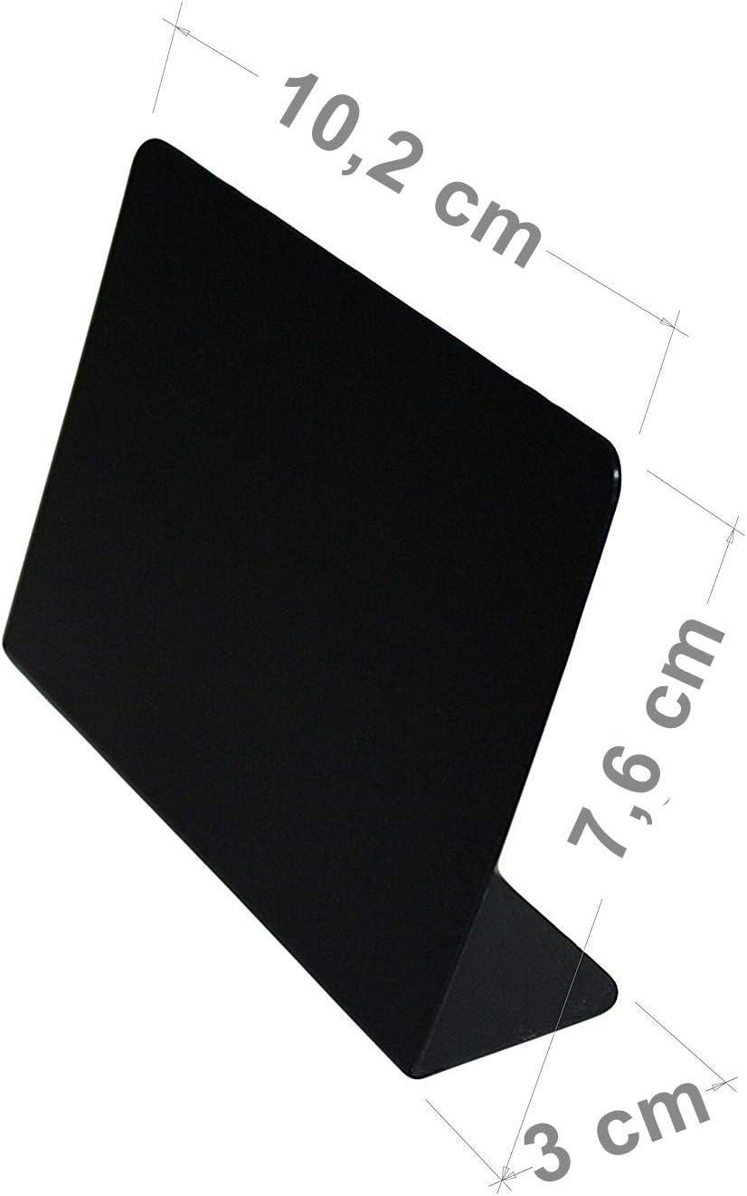 eleganter Optik aus Kunststoff 10er Set wiederverwendbarer Kreidetafeln in stilvoll