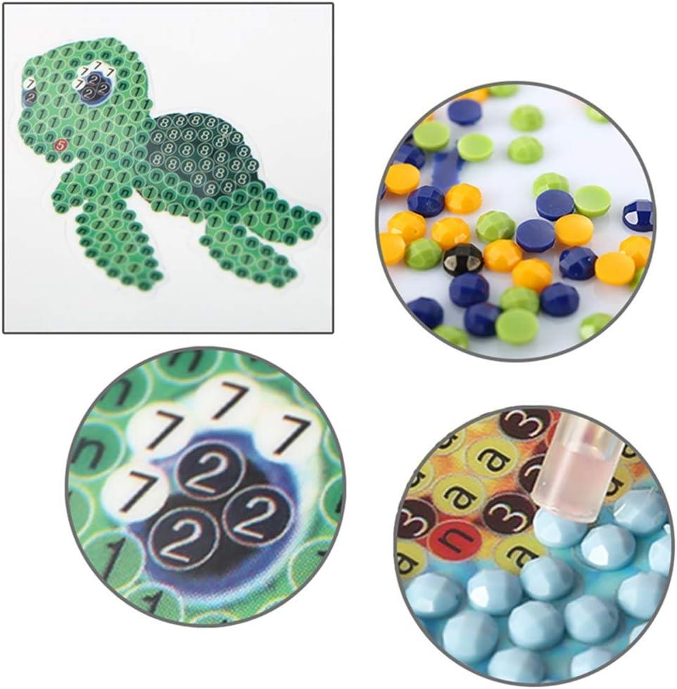5D Diamond Painting Kits Animal Sticker for Kids Diamond Kits Paint by Numbers Diamonds XINRUI BKpearl 19 Pcs Kids Diamond Painting Stickers