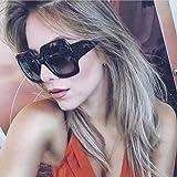 DDLbiz NEW Oversized Square Luxury Sunglasses Gradient Lens Vintage Women Fashion (A)