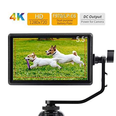 Vbestlife Feelworld S55 IPS Monitor de Cámara 5.5 Pulgadas 4K HDMI ...