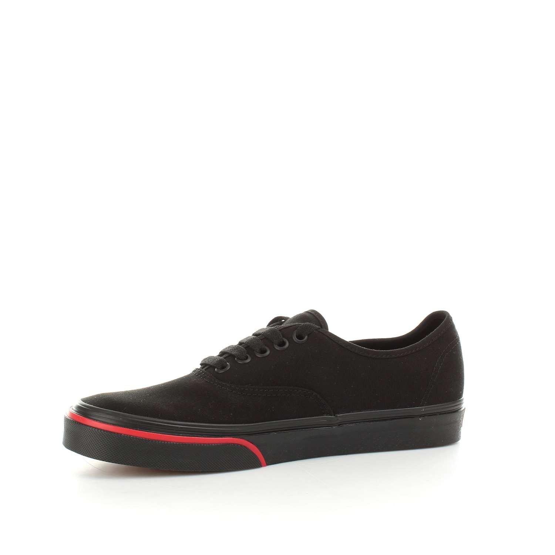 Vans Unisex Authentic Canvas Shoes B076CVFPP5 10 M US Women / 8.5 M US Men|(Flame Wall) Black/Black