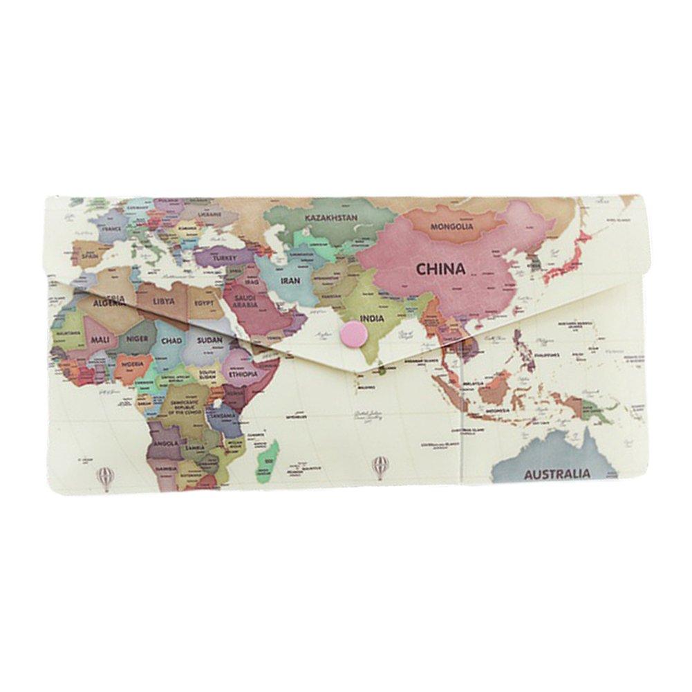 Indimap Multipurpose Travel Passport Wallet Organizer Soft ID Card Holder Cover