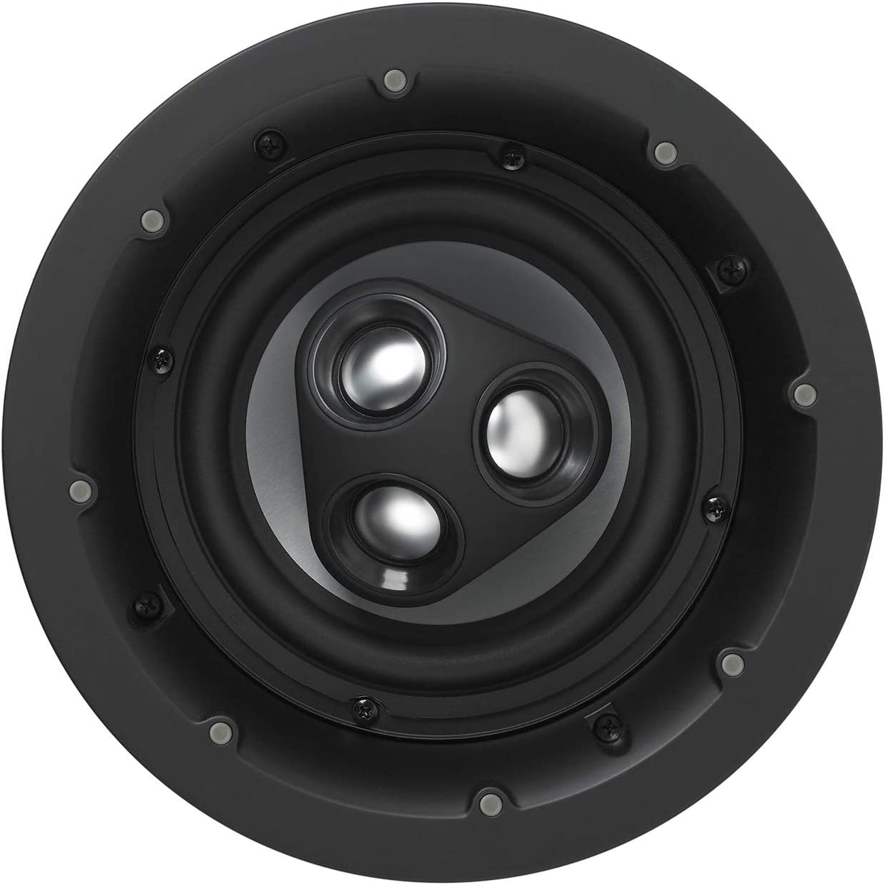 NHT iC3-ARC 2-Way 6.5-inch Premium In-Ceiling Speaker | Aluminum Drivers, 125 Watts | Patented Three-tweeter Array | Hi-res Height Channel | Single, Matte White