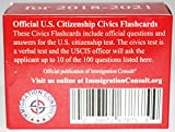 US Citizenship test civics flash cards for the naturalization exam with all official 100 USCIS questions and answers. Illustrated Pocket Box set flashcards to help study for the American Civics