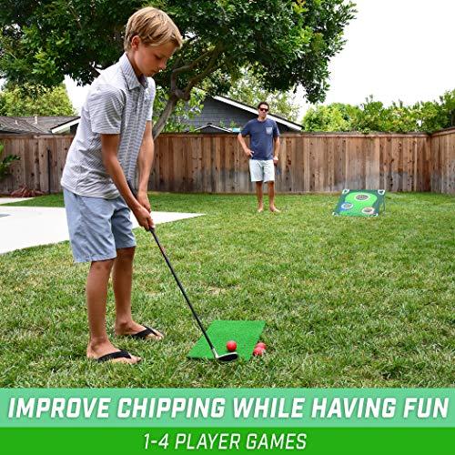 Backyard golf corn hole game