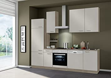 Küchenblock mit elektrogeräten  idealShopping Küchenblock mit Elektrogeräten Arta in sahara 270 cm ...
