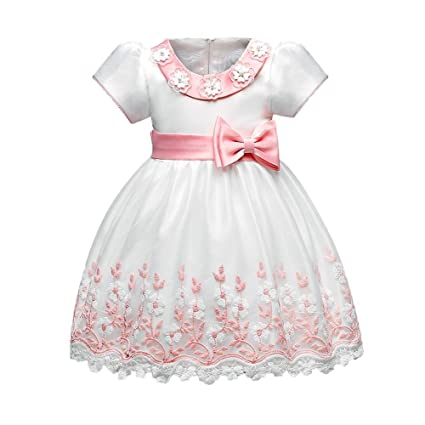 domybest 0 – 24 meses bebé vestido con tutú para niñas manga corta o-neck