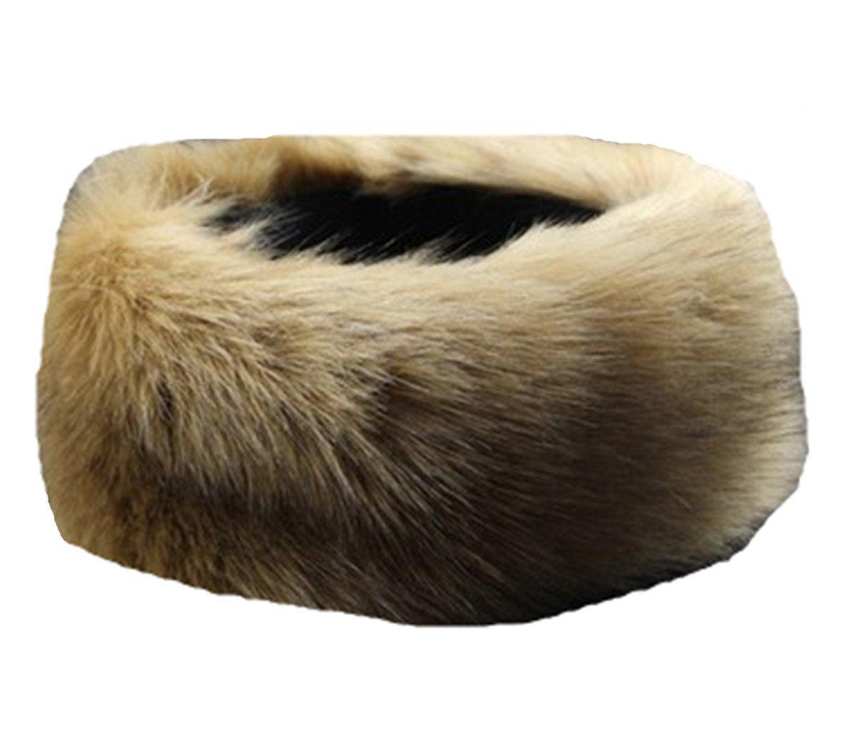OYSRONG Women/Ladies Faux Fur Headband Earwarmer Earmuff Hat Ski (Khaki)