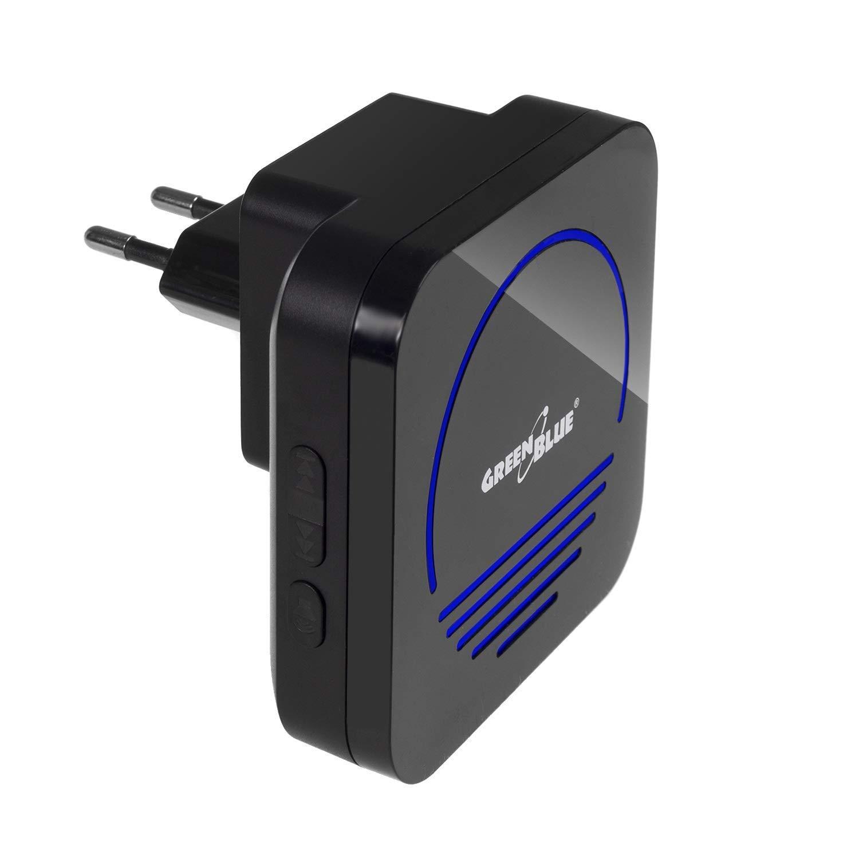 Green Blue gb120/48578/inal/ámbrico 52/melod/ías Alcance 300/M emisor//receptor 230/V Negro