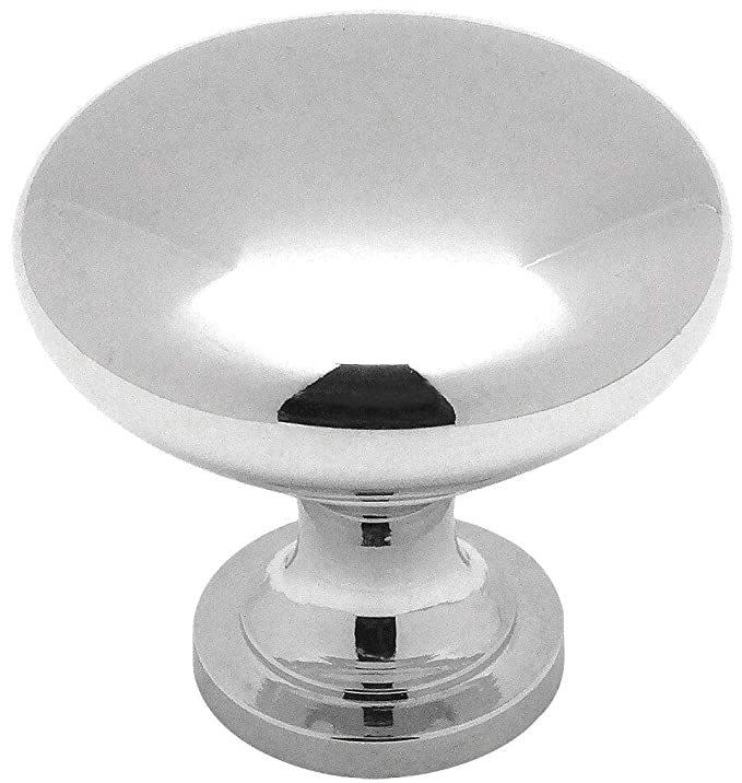 25 Pack - Cosmas 5305CH Polished Chrome Traditional Round Solid Cabinet Hardware Knob - 1-1/4