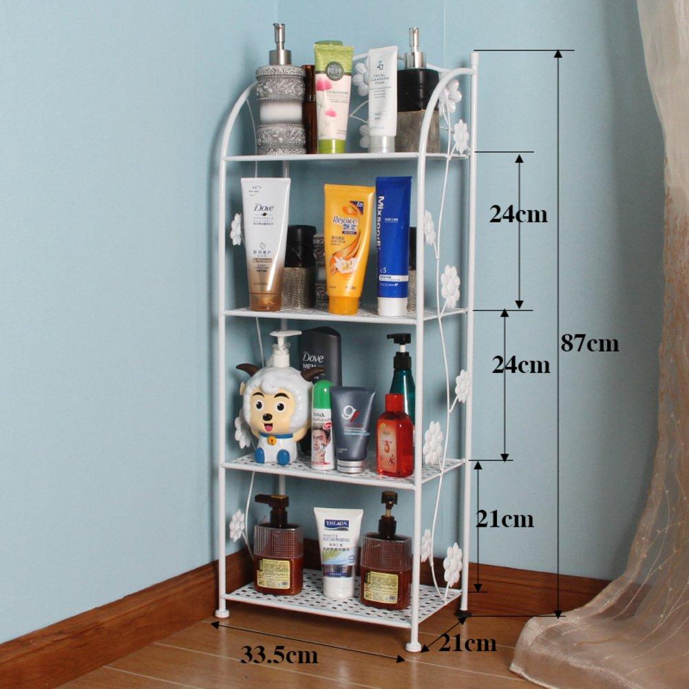 iron bathroom rack/Floor bathroom toilet basin/bathroom Bathroom/Storage shelf/storage shelf rack-B 30%OFF